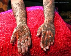 Bridal henna. Floral and paisley with geometric elements. HennaArt.ca: Neilin's Bridal Henna