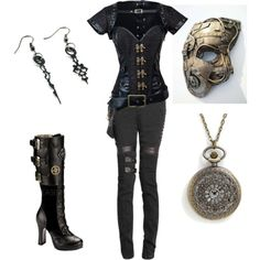 Steampunk by olive-nijak on Polyvore featuring Demonia