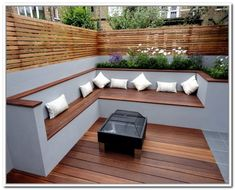 modern outdoor storage bench elegant design
