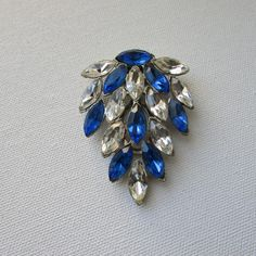 Vintage Dress Clip Clear and Blue by VintageRetreauxgirl on Etsy