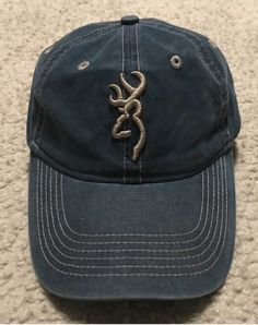 698d2f3aa0c BROWNING HUNTING ADJUSTABLE VELCRO HAT LEGACY PEBBLE NAVY DENIM VERY GOOD  USED  fashion  clothing  shoes  accessories  mensaccessories  hats (ebay  link)