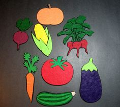 Felt Vegetables for the Vegetable Soup Song