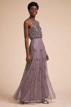7b723c74eeb The wedding party ! Purple beaded Amada bridesmaid dress from BHLDN Wedding  Colors