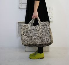 Daniela Gregis by reva Diy Crochet And Knitting, Crochet Tote, Crochet Handbags, Crochet Purses, Crotchet Bags, Knitted Bags, Cotton Cord, Yarn Bag, Fabric Bags