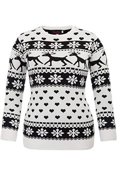 Chic Women Christmas Sweaters Pullover Reindeer Snowflakes Patterns Plus Size Tops reindeer christmas jumper. ($24.99) alltoenjoyshopping from top store