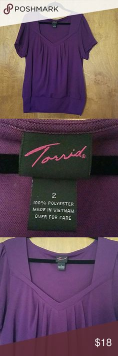 Purple blouse 2X by Torrid Great used condition condition.  Lightweight Torrid Tops Blouses