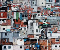 Favela - oil on canvas, - private collection Oil On Canvas, Photo Wall, Van, Architecture, Frame, Paintings, Home Decor, Collection, Slums