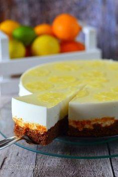 Citromos-joghurtos torta Summer Cakes, Summer Desserts, Cookie Desserts, Sweet Desserts, Swedish Recipes, Sweet Recipes, Cake Cookies, Cupcake Cakes, Torte Cake
