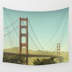Available in three distinct sizes, our Wall Tapestries are made of 100% lightweight polyester with hand-sewn finished edges. Featuring vivid colors and crisp lines, these highly unique and versatile tapestries are durable enough for both indoor and outdoor use. Machine washable for outdoor enthusiasts, with cold water on gentle cycle using mild detergent - tumble dry with low heat. #GoldenGate #USA #california #landmark #SanFrancisco