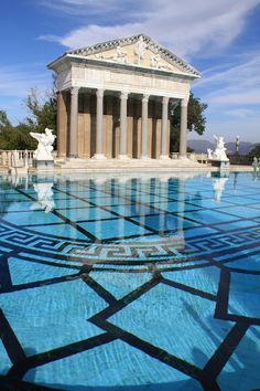 The Neptune Pool at Hearst Castle | designed by architect Julia Morgan.