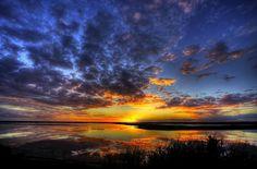 Atardecer en las Marismas del Odiel (Huelva) / Sunset over the Odiel Marshes (Huelva), by @elhuffpost