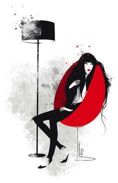 illustrations-mode-ennji-dessin-silhouette-feminines-rouge-noir-02