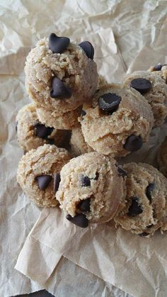 Ready-To-Eat Raw Chocolate Chip Cookie Dough Bites