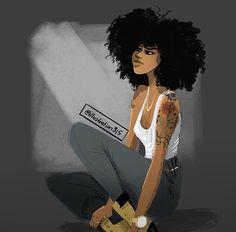 My black is beautiful Black Girl Art, Black Women Art, Black Girls Rock, Black Girl Magic, Black Art, Art Girl, Natural Hair Art, Natural Hair Styles, Natural Beauty