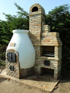 Kemax - Kecskeméti búboskemence grillezővel Outdoor Stove, Pizza Oven Outdoor, Outside Fireplace, Autumn Lights, Stove Oven, Brick And Stone, Backyard Landscaping, Outdoor Spaces, Design Projects