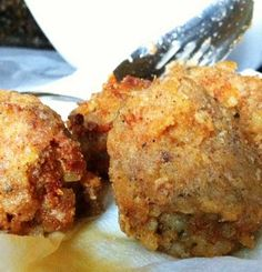 Recipe for Louisiana Boudin Balls - It's one of the most delicious things we have in Louisiana. You can certainly eat it all alone, but these Boudin Balls make great appetizers or they'll work as a side to another dish.