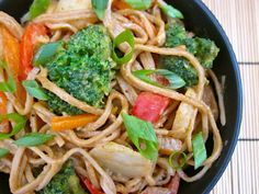 Peanut soba stir fry -Easy to make.  Sauce is perfect.  Better than ordering across the street.