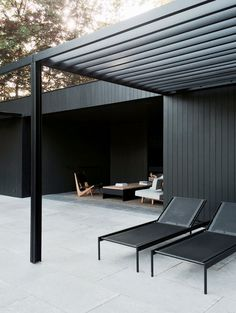 A Stunning Pool House - NordicDesign | outdoor | black
