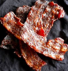 Sweet and Salty Candied Bacon: a little like the chinese bah kwa (dried meat a.k.a meat jerky)