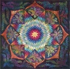 Patchwork quilt mandala