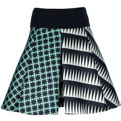 FAUSTO PUGLISI geometric print skirt ($104,900) ❤ liked on Polyvore featuring skirts, knee length pleated skirt, silk pleated skirt, pleated skirt, silk skirt and geometric skirt
