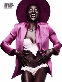 """South Sudanese Model Ataui Deng is a """"Funky Star"""" in Marie Claire France's January 2014 Issue"""