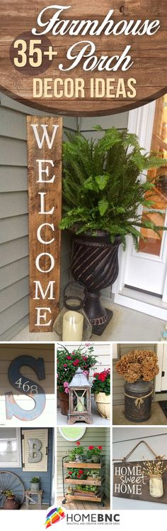 Rustic Farmhouse Porch Designs