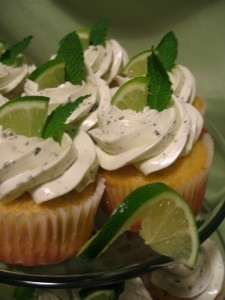 Mojito cupcake from whisk this