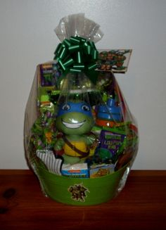 This year i decided to get creative and make a ninja turtles easter this year i decided to get creative and make a ninja turtles easter basket for my nephewgodson ninjaturtles creative pinterest easter baskets negle Images