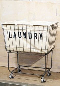 A Chic Take On The Classic Laundromat Cart Our Rolling
