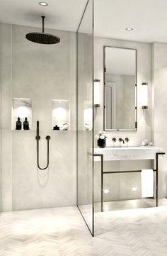 Schaut Euch dieses tolle Baddesign an. Gerne würden wir Sie hierzu näher beraten. Besuchen Sie uns in Weiterstadt und lassen Sie sich von unserem Küchenstudio inspirieren.   #kizilinteriorservice #interiordesign #homedesign #home #design #wohnen #plana #inspo #modern #modernhouse #modernhousedesign #home Quelle: Badezimmer Bad Inspiration, Bathroom Inspiration, Bathroom Ideas, Bathroom Organization, Bathroom Storage, Bathroom Cleaning, Bath Ideas, Budget Bathroom, Bathroom Layout