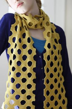Swiss Cheese Scarf | free PDF pattern on Ravelry