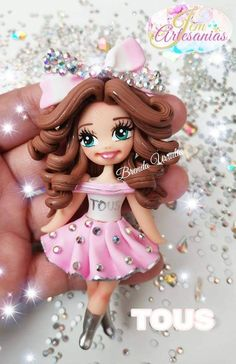 Cute Polymer Clay, Polymer Clay Crafts, Clay People, Face Mold, Barbie, Pasta Flexible, Hair Bows, Clays, Polymers