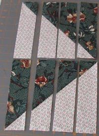 Great tutorial. CLICK onto the site for this one to see all the patterns with this one technique. Quiltvilles Quips & Snips!!: Scrappy Mountain Majesties!