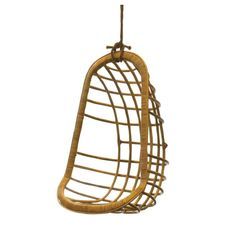 Relax in style with our Rattan Swing Chair. Hand crafted of bent rattan its swooped silhouette adds comfort and all sorts of eye candy. Includes hanging rope and clamp. Dimensions: X X Color: Natural Materials: Rattan Hammock Chair, Hammock Stand, Swinging Chair, Chair Cushions, Swivel Chair, Papasan Chair, Rocking Chair, Hanging Furniture, Hanging Chairs