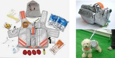 Pet Evacuation Jacket: All the supplies any pet needs to safely survive anything, including what looks like an impending trip to space.