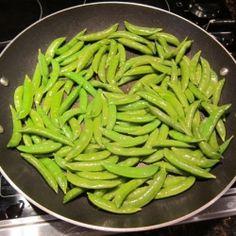 Garlic Sugar Snap Peas Recipe by Sunsmile