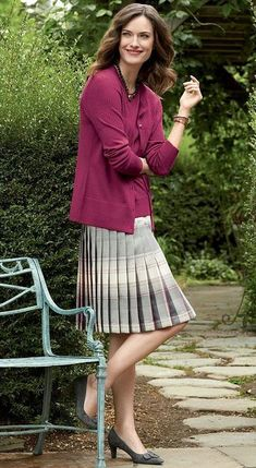 Virtuous Christian ladies that love wearing nice pleated skirts, or pleated dresses, as part of their nice, feminine, and proper attire. Pleated Midi Skirt, Dress Skirt, Pleated Dresses, Pleated Skirt Outfit Short, Classic Skirts, Classic Outfits, Proper Attire, Wool Tights, Sunday Outfits