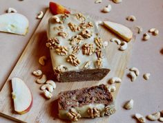 Apple Loaf + Chai Cashew Cream Frosting
