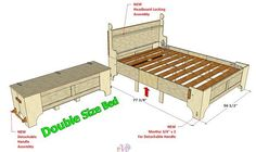099 Double Folding Bed Version 1 - 3D Woodworking Plans