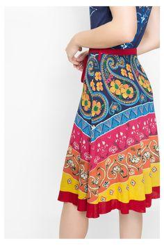 Multicolored summer dress | Desigual.com