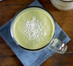 Green Tea Coconut Smoothie by brooklynatlas #Smoothie #Green_Tea #Coconut #Healthy