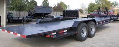 Tilt Bed Trailers - We can special order any size trailer to fit your needs! Tilt Trailer, Car Hauler Trailer, Trailer Plans, Camper Trailers, Lifted Cars, Toyota 4runner, Golf Carts, Amazing Cars, Car Ins