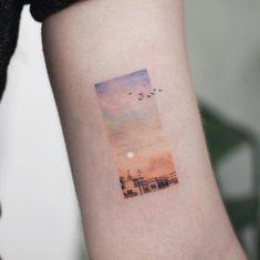 10 Minimalist Tattoo Designs For Your First Tattoo - Spat Starctic Mini Tattoos, Body Art Tattoos, Small Tattoos, Tatoos, Tatuajes Tattoos, Random Tattoos, Paisley Tattoos, Tattoos Geometric, Form Tattoo