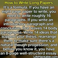 How to write long essays
