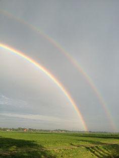 Dubbele regenboog in Giethoorn
