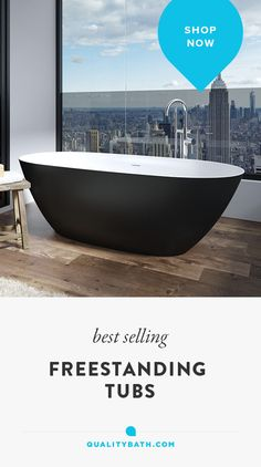 The Perlato Genova freestanding tub is the ultimate in luxury tubs, available in white or black, with a silky smooth solid stone surface. Upgrade your contemporary bathroom with an oval soaking tub and complementing tub filler.