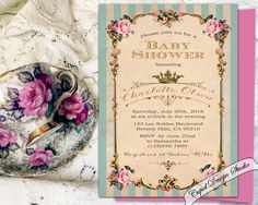 A personal favorite from my Etsy shop https://www.etsy.com/listing/208781147/royal-baby-shower-invitation-shabby-chic