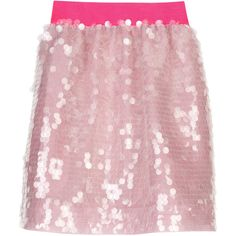 Isaac Mizrahi Sequin mini skirt | NET-A-PORTER.COM ($170) ❤ liked on Polyvore featuring skirts, mini skirts, bottoms, pink, saias, net skirt, pink sequin skirt, sequin mini skirt, pink miniskirt and sequin embellished mini skirt
