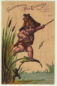 Dalleys Magical Pain Extractor Trade Card Fishing Pixie Frog
